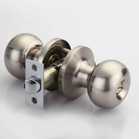Cerradura LOBUS perilla barza cilindrica con llave LB 10200