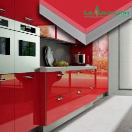 MDF laminado alto brillo Luxe rojo
