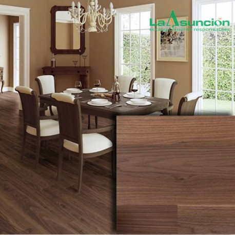 Piso Laminado Walnut Colorado Ambienta